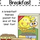 This is an end of the year packet with a breakfast theme! I usually buy a small breakfast (usually donuts) for my kids the last week of school whil...