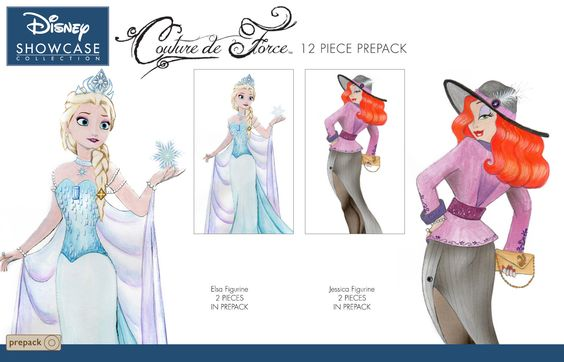 Elsa and jessica rabbit statues coming to the couture de for Couture de force elsa