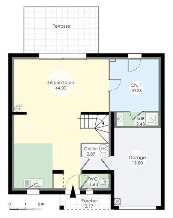 Chambre Avec Salle De Bain Verriere : Le plan du rez de chaussée nous montre un immense salon avec sa …