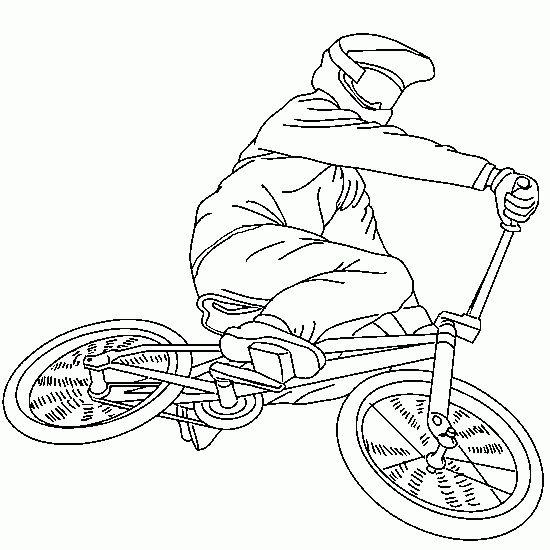 Printable Dirt Bike Coloring Pages