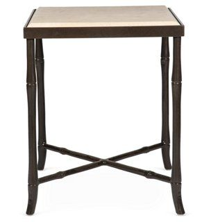 Iron Side Table W Marble Top Tops Products And Marble Top
