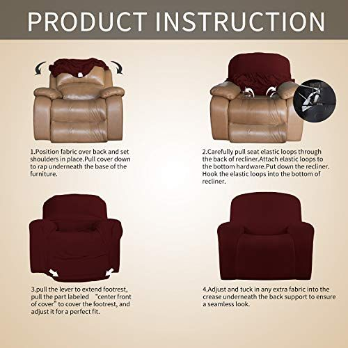 Easy Going Recliner Stretch Sofa Slipcover Sofa Cover 1 Piece Furniture Protector Couch Soft In 2020 Slipcovered Sofa Slipcovers Oversized Recliner