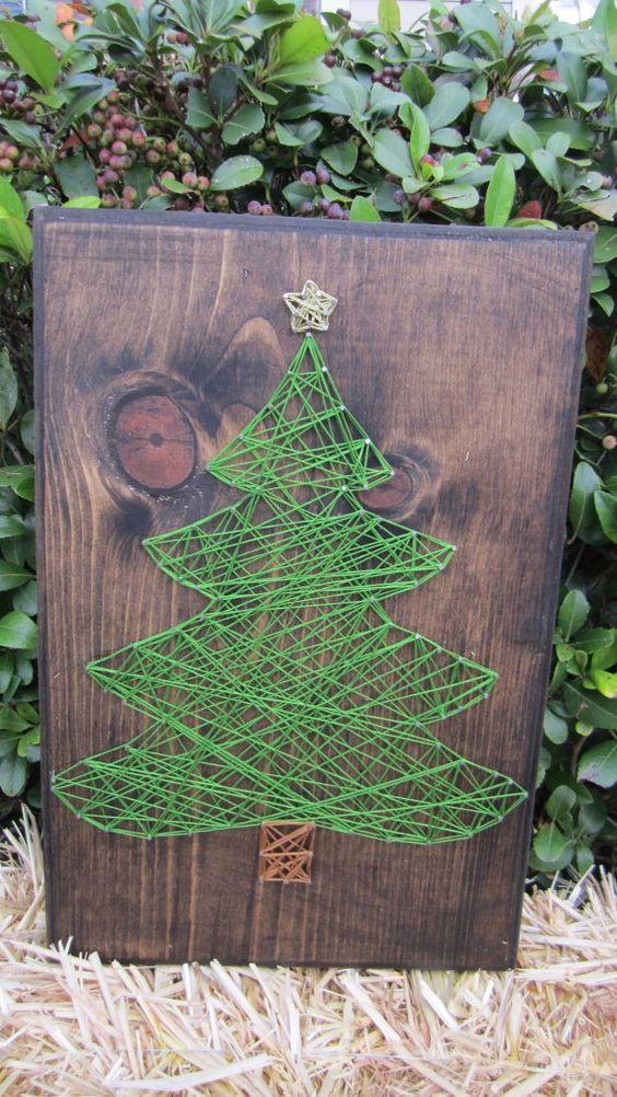 fadenbild tannenbaum christmas event pinterest weihnachtsb ume weihnachtskartenhalter und. Black Bedroom Furniture Sets. Home Design Ideas
