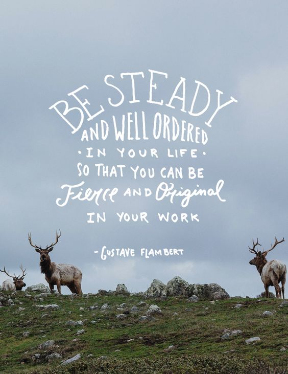 Monday Words: Be Steady: