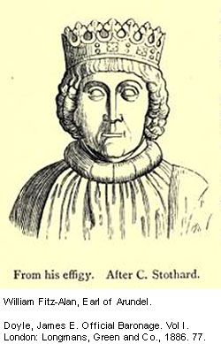 Portrait of William FitzAlan, 9th Earl of Arundel, after his effigy.