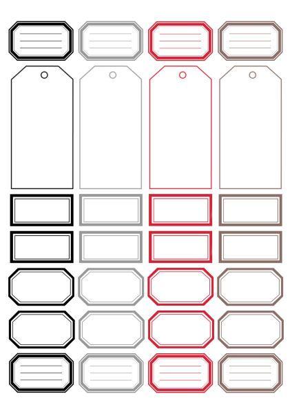 DIGITAL SCRAP : Étiquettes à imprimer : REG29