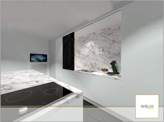 Keuken Wit Marmer : keuken ontwerp door www.wauw.be keuken ontwerp wit en carrara marmer