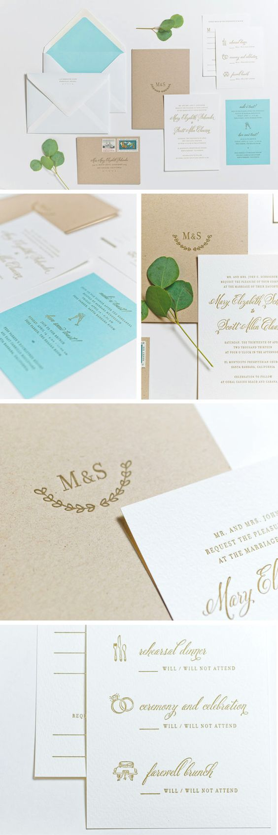 will/will not attend cards, pressed leaf, beautiful stationary