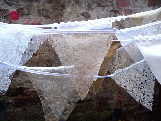bunting with lace