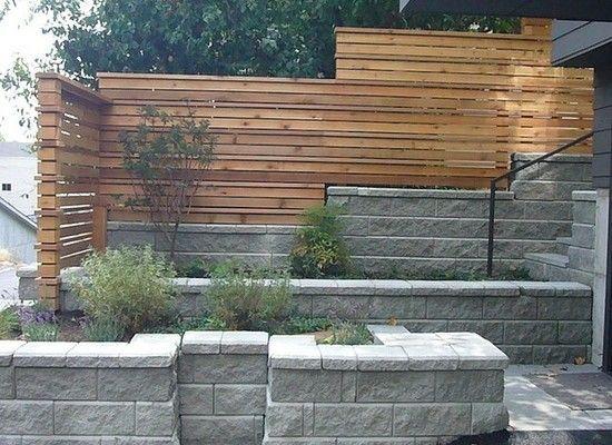 Modern Garden Wall Ideas In 2020 Modern Fence Retaining Wall Fence Front Yard Fence