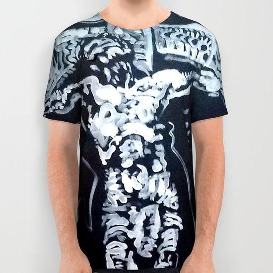 INRI All Over Print Shirt by Matt Pecson - $34.00