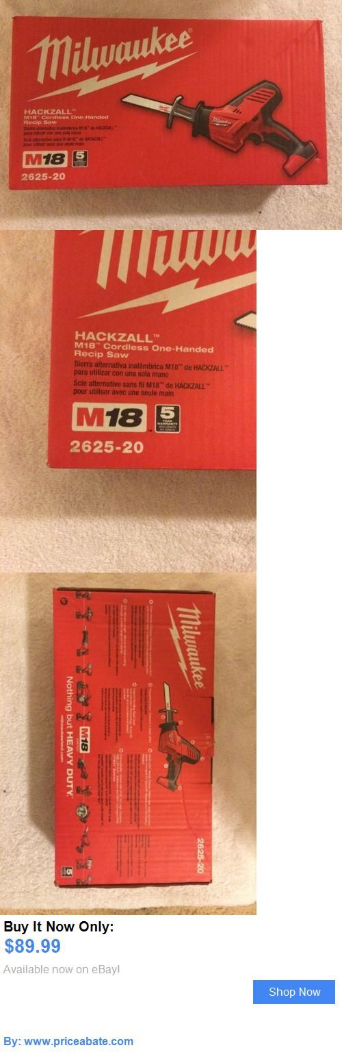 tools: New Milwaukee 2625-20 18V Volt M18 Cordless Hackzall Reciprocating Saw Sawzall BUY IT NOW ONLY: $89.99 #priceabatetools OR #priceabate