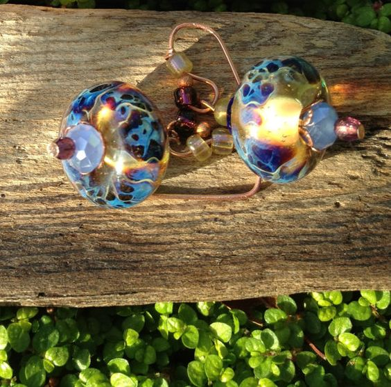 Jewelry Earring Drop Dangle Bohemian Bling  by oldredmaredesigns, $36.00