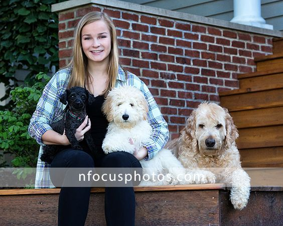 Class of 2015 High School Senior girl with her dogs in Crystal Lake, Illinois #nfocusseniors