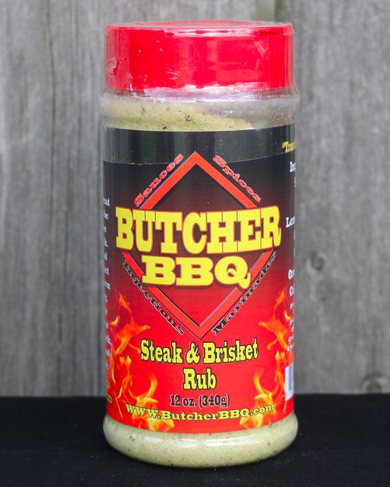 Butcher BBQ Steak & Brisket Rub - 12oz. We knew spices used for decades in Texas for brisket cooking couldn't be wrong. So with that in mind we utilized that along with a long time favorite for steaks