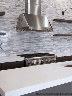 Modern White Gray Subway Marble Backsplash Tile In 2019 Modern