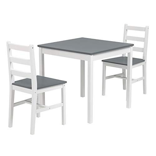Mecor 3 Pcs Dining Table Set Wood Kitchen Table Set With 2 Chairs