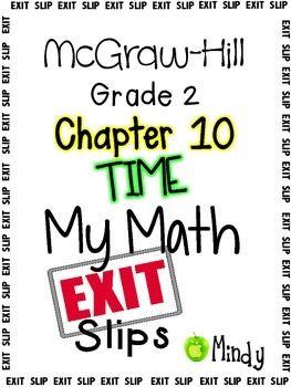 math worksheet : my math mcgraw hill chapter 10 exit slips grade 2  exit slips  : Mcgraw Hill Math Worksheets