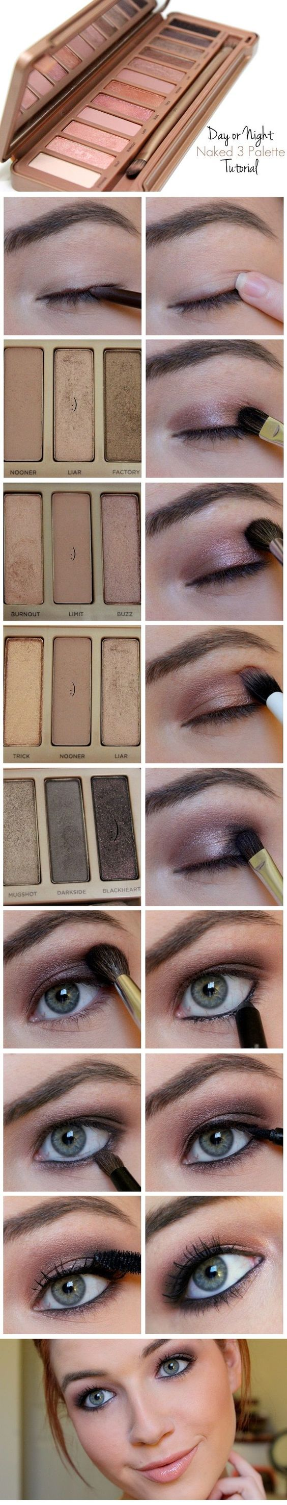 Naked 3 Palette: Easy Day or Night Smokey Eye: