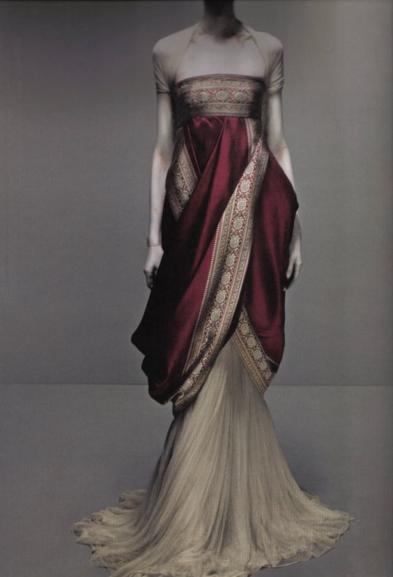 Lovely classical styling by Alexander McQueen.