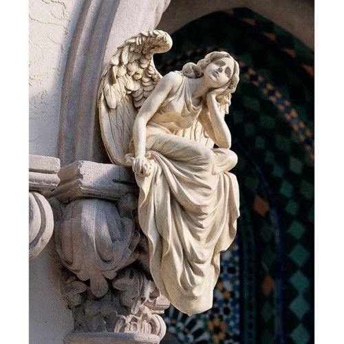 Design Toscano Resting Grace Sitting Angel Sculpture Large