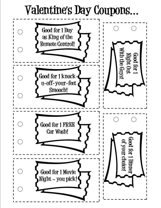 Free printable valentine s day love coupons wish you for Coupon template for pages