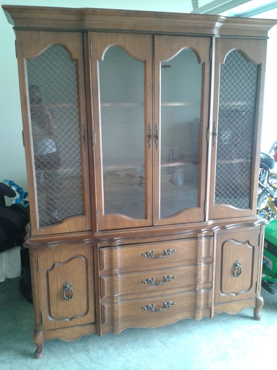 craigslist china cabinet before and after the craigslist china cabinet goes blue 14185