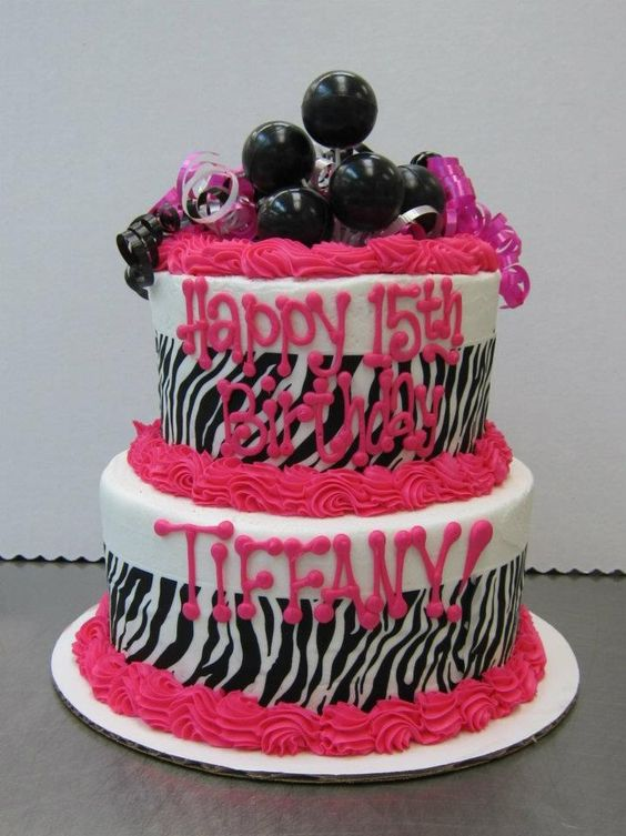 Zebra print, pink and black.  Any teen girl would love it. Cake by Stephanie Dillon, LS1 Hy-Vee