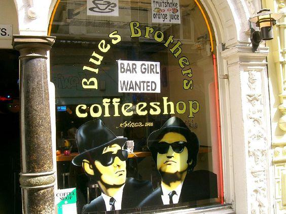 Amsterdam / Blues Brothers Coffeeshop - Amsterdamweedshirts.com