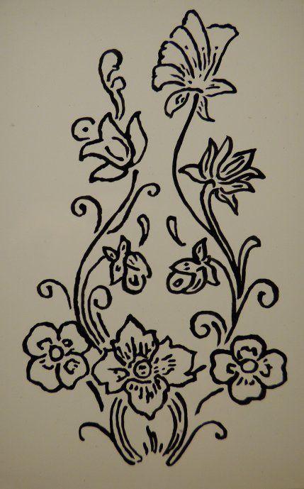 peinture florale sur verre d butant romi pinterest. Black Bedroom Furniture Sets. Home Design Ideas