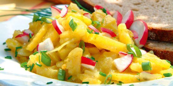 Badischer Kartoffelsalat - Rezepte von Lebe Gesund - Vegetarisch, vegan genießen