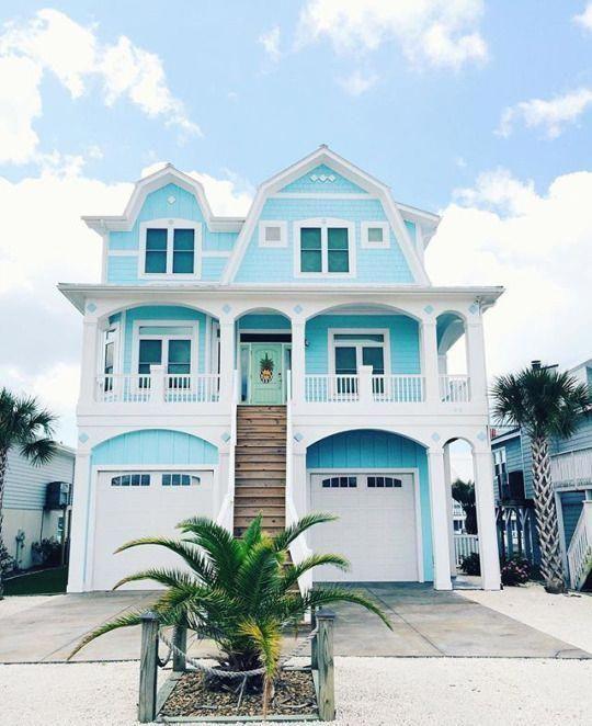 Fun Exterior Paint Colors Beachcottages Dream Beach Houses