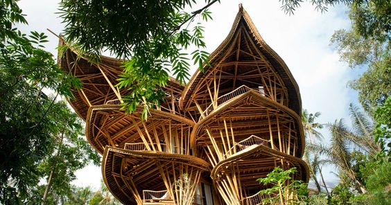 Woman Quits Job to Build Sustainable Bamboo Homes In Bali: