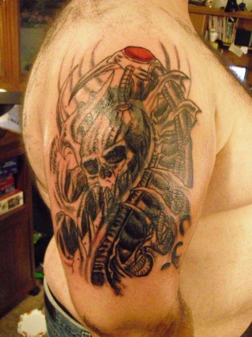 Tribal Skull Tattoo Sleeve: Skull-tribal-tattoo-design-for-men-on-sleeve