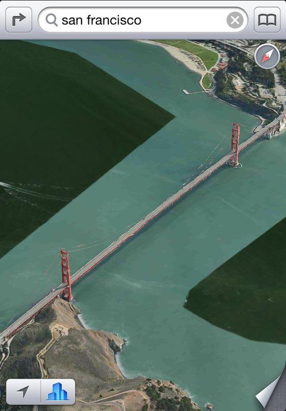 Lineare Meeresströmung nahe San Francisco #applemaps