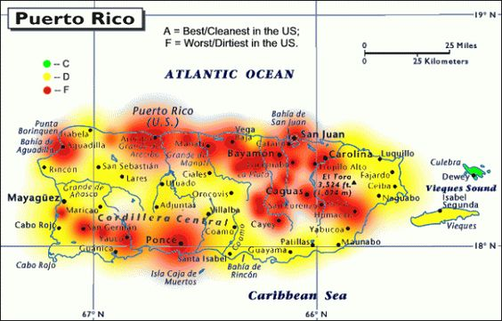 Puerto Rico Map Pollution Puerto Rico Map And Light Pollution - Bortle map us
