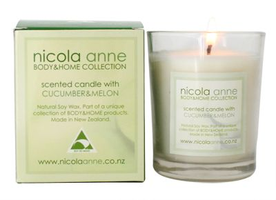 Nicola Anne Scented Candle – Cucumber & Melon – Candles of New Zealand | Shop New Zealand NZ$ 33.90