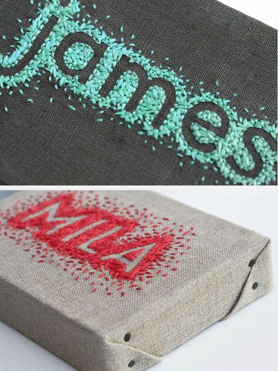 Cute name embroidery idea.