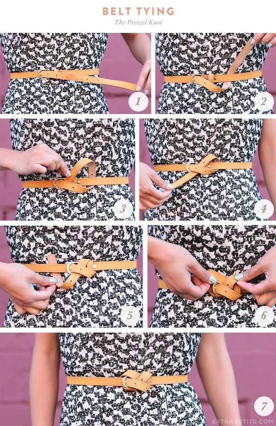 ExtraPetite.com - Flared tweed shift   styling a too-long belt