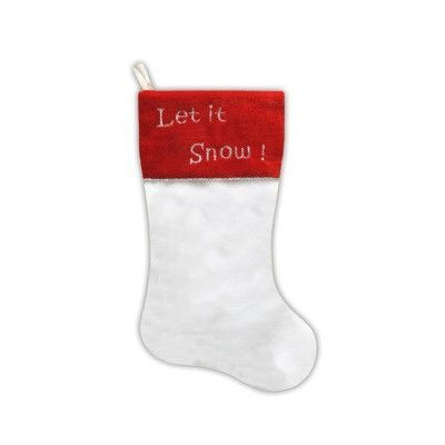 NorthlightSeasonal Faux Fur Let it Snow! Christmas Stocking with Shadow Velveteen Cuff