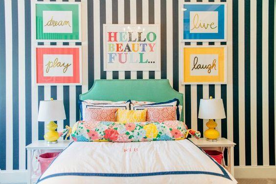 Dormitorio juvenil a todo color kids room pinterest colores - Habitacion juvenil chica ...