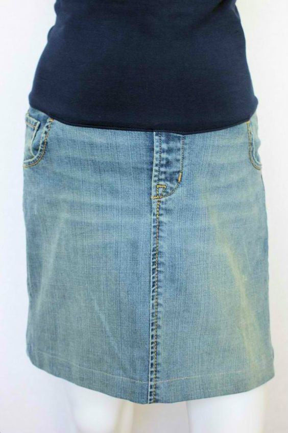 Motherhood Closet - Maternity Jeans Mini Skirt by GAP Maternity ...