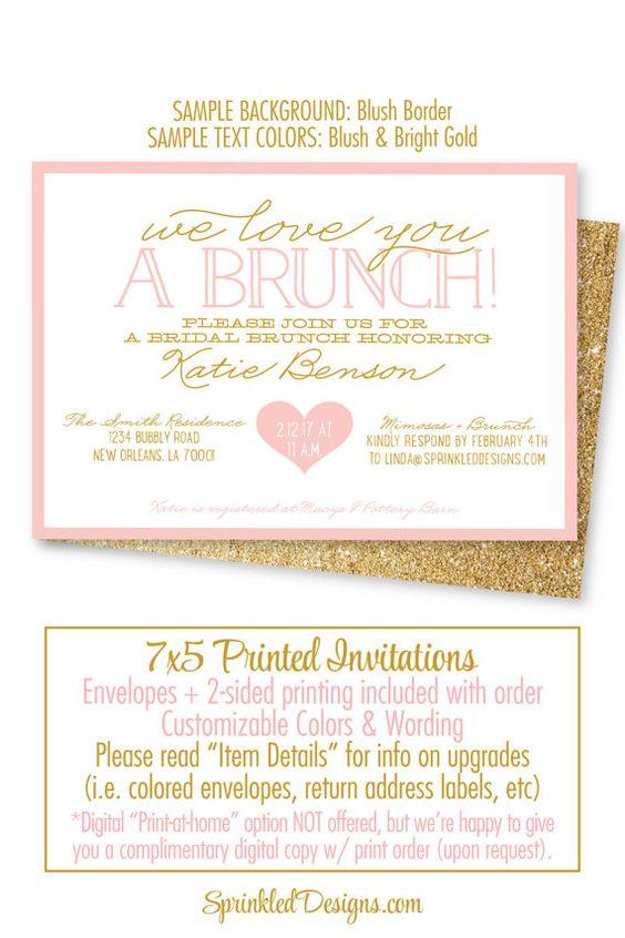 Bridal Shower Invitation Bridal Brunch Invites Brunch