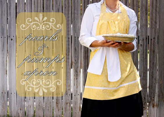 This is so pretty, and she makes it super easy to sew along with her.  She included tons of pictures and easy instructions.  Would make a great wedding shower gift. Long live the apron!