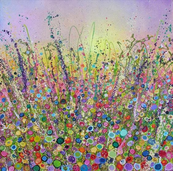 these works by Yvonne Coomber are gorgeous and great inspiration! Tread Gently in the Wild Garden - Yvonne Coomber