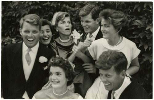Kennedy wedding day. Photo by Toni Frissell.
