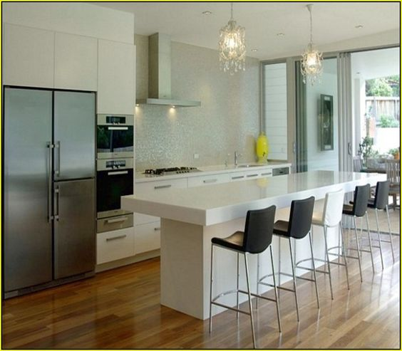 Contemporary kitchen islands with seating modern kitchen for Large kitchen island ideas with seating
