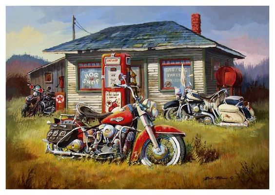 Harley Davidson Art – Collection of old posters and pics   Harley Davidson Collectibles Blog