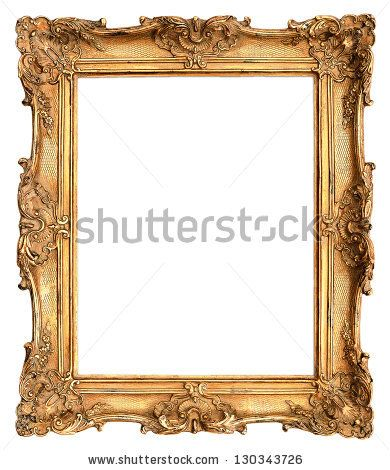 antique golden frame isolated on white background by LiliGraphie, via ShutterStock