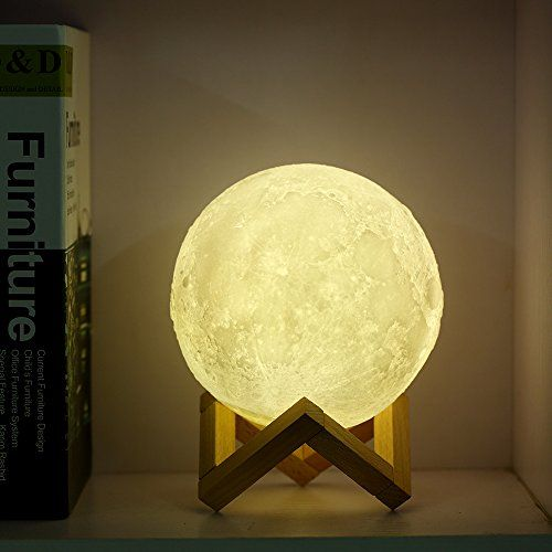 Usb 3d Printing Moon Lamp Led Night Light Rechargeable Https Www Amazon Co Uk Dp B07dfj9t85 Ref Cm Sw R Pi Dp U X 63irb Lamp Led Night Lamp Night Light